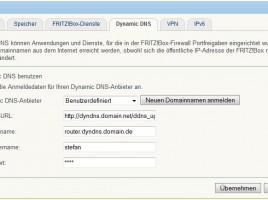 Fritzbox DynDNS Freigabe